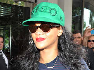 Rihanna leaving her hotel in central London London, England
