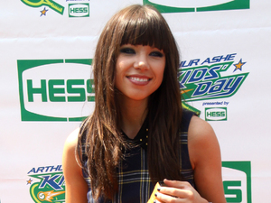 Carly Rae Jepsen attends the Arthur Ashe Kids' Day in New York.