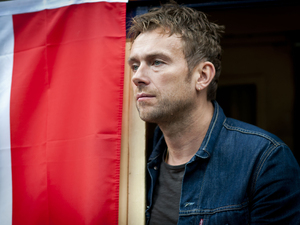 Damon Albarn at the departure of the Africa Express at Euston Station, London.