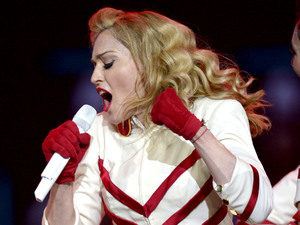 Madonna continues her MDNA tour in Montreal.