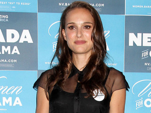 Natalie Portman arrives at the Nevada Women's Summit, Las Vegas.