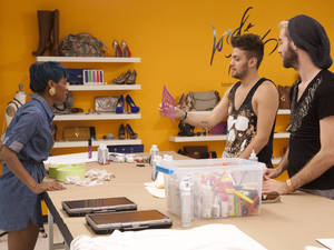 Sonjia Williams, Christopher Palu and Gunnar Deatherage Thursday 6th September's episode of 'Project Runway'