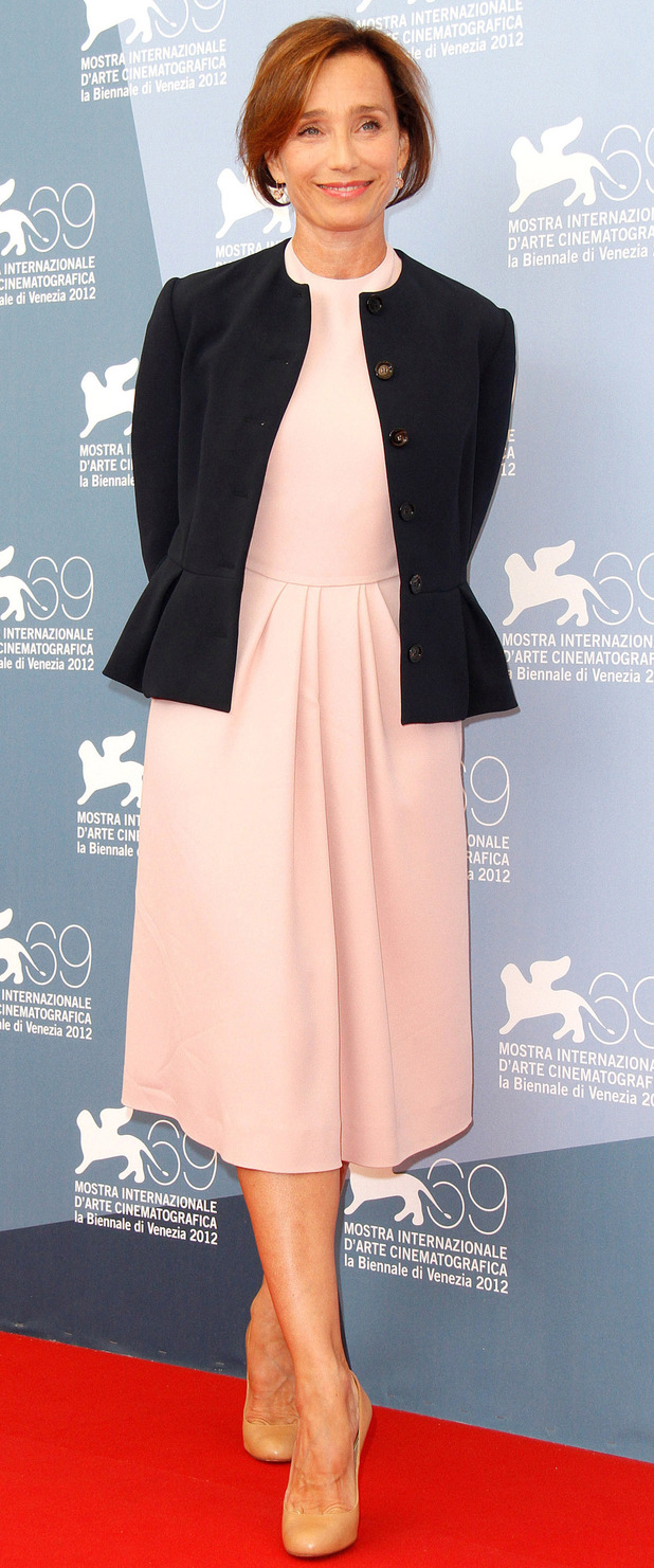 Kristin Scott-Thomas at the 69th Venice Film Festival.