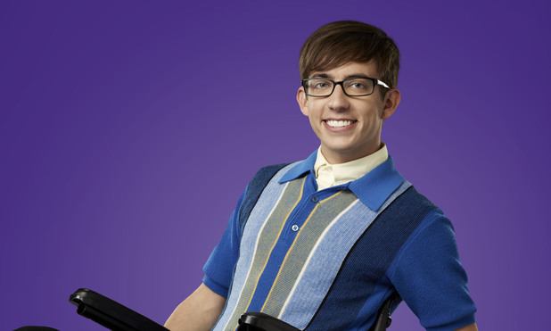 Kevin McHale as Artie Abrams in Season 4 of Glee.