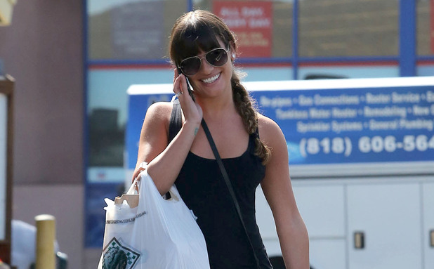 Lea Michele leaving Bristol Farms after doing some shopping.