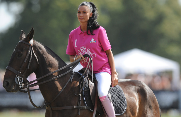 Katie Price AKA Jordan on a horse
