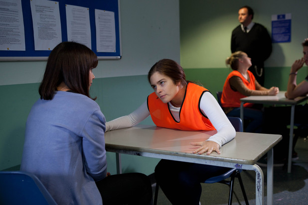 Nancy visits Mitzeee in Hollyoaks