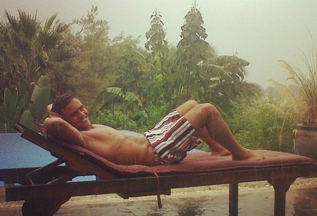 Tom Daley on holiday