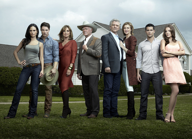 The new Dallas stars original cast members Larry Hagman, Patrick Duffy and Linda Gray and also stars Jesse Metcalfe and Josh Henderson.