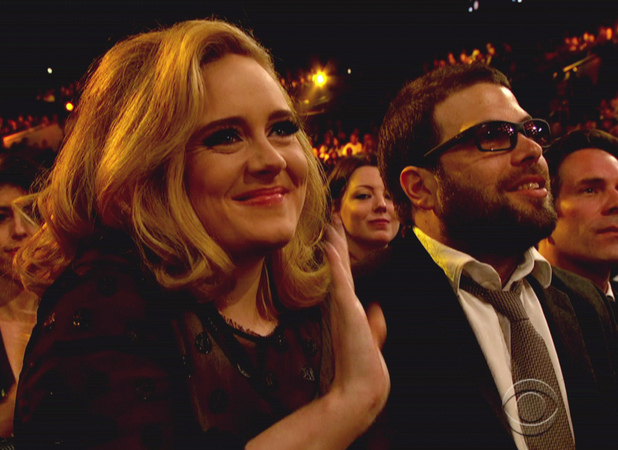 Adele Adkins and boyfriend Simon Konecki The 54th Annual Grammy Awards on CBS LL Cool J hosts music's biggest night which celebrates and honors excellence in the recording industry USA - 12.02.12 Supplied by WENN.comWENN does not claim any ownership including but not limited to Copyright or License in the attached material. Any downloading fees charged by WENN are for WENN's services only, and do not, nor are they intended to, convey to the user any ownership of Copyright or License in the material. By publishing this material you expressly agree to indemnify and to hold WENN and its directors, shareholders and employees harmless from any loss, claims, damages, demands, expenses (including legal fees), or any causes of action or  allegation against WENN arising out of or connected in any way with publication of the material.