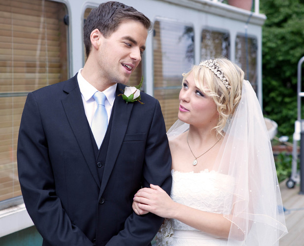 Hollyoaks: Behind the scenes at Doug and Leanne's wedding