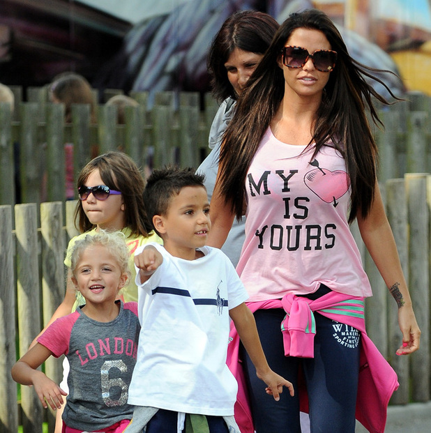 REVEAL ONLY Katie Price at Peppa Pig with her two children, Junior and Princess.