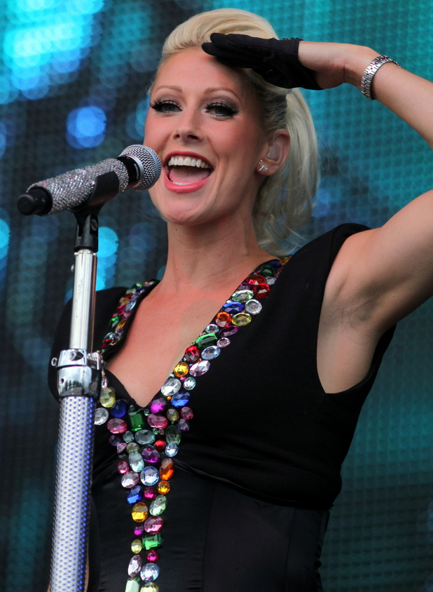 Faye Tozer performs as part of Steps Newmarket Racecourse. 
