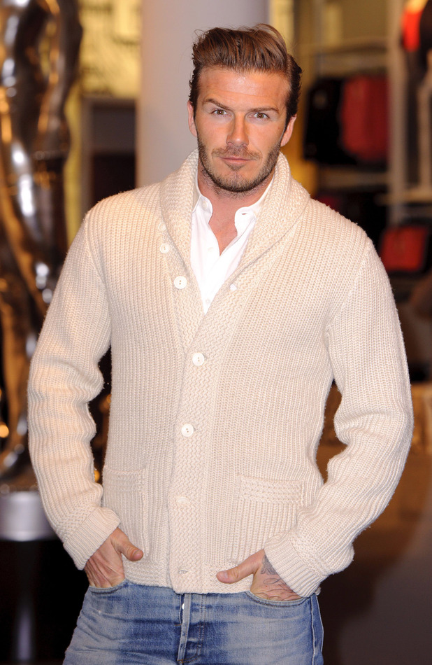 Sexy male celebrities in cardigans