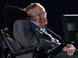 Stephen Hawking launching the Paralympic Opening Ceremony