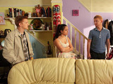 Chesney is annoyed when Gary and Izzy gatecrash his plans for a quiet night with Katy to see her birthday in