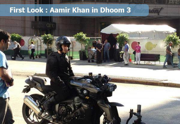 Aamir Khan on the set of &#39;Dhoom 3&#39; 