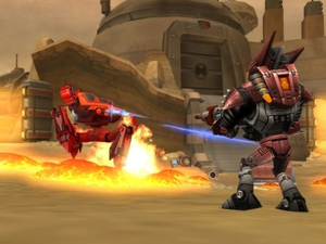 Screenshot of &#39;Ratchet: Gladiator&#39; gameplay (aka: &#39;Deadlocked&#39;)