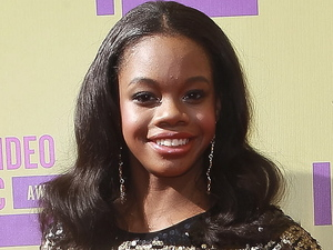 Gabby Douglas attends the MTV Video Music Awards 2012