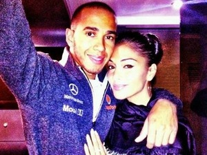 Lewis Hamilton and Nicole Scherzinger.