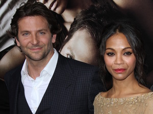 Bradley Cooper and Zoe Saldana at the Los Angeles premiere of 'The Words'