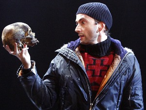 David Tennant staring as &#39;Hamlet&#39; on stage in 2008