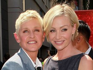 Ellen DeGeneres with wife Portia de Rossi at her Hollywood Walk of Fame induction - September 4, 2012