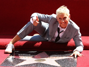 Ellen DeGeneres is honored with a star on The Hollywood Walk Of Fame - Los Angeles, California - 04.09.12