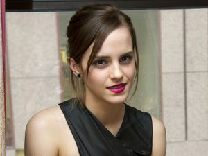 Emma Watson backstage at the Toronto International Film Festival.