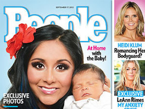 Jersey Shore star Snooki (Nicole Polizzi) introduces her new son Lorenzo