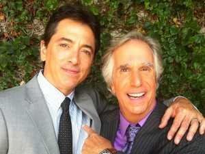 Henry Winkler and on the set of 'Arrested Development'