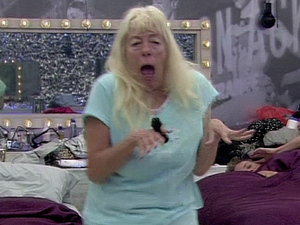 Julie Goodyear appears dancing in the bedroom as shes woken up to music on ' Celebrity Big Brother ' Shown on Channel 5 HD