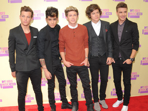 Liam Payne (l-r), Louis Tomlinson, Niall Horan, Zayn Malik and Harry Styles of One Direction