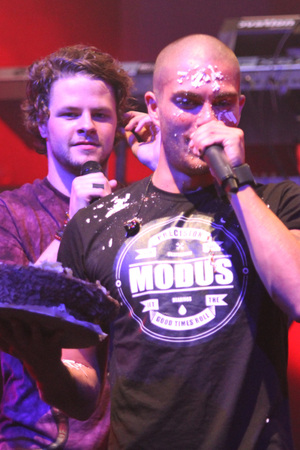 Max George gets cake on his face - 6/9/12