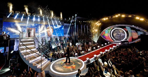 The Big Brother house as Julian is crowned the winner