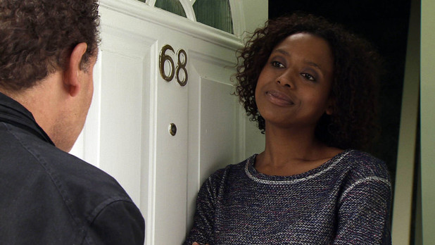 Lloyd gets a shock when a young woman by the name of Jenna opens the door, claiming to be Mandy's daughter