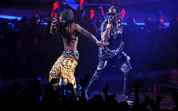 Lil Wayne and 2 Chainz at the VMAs