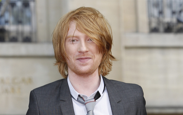 British actor Domhnall Gleeson arrives in Trafalgar Square, in central London, for the World Premiere of Harry Potter and The Deathly Hallows: Part 2