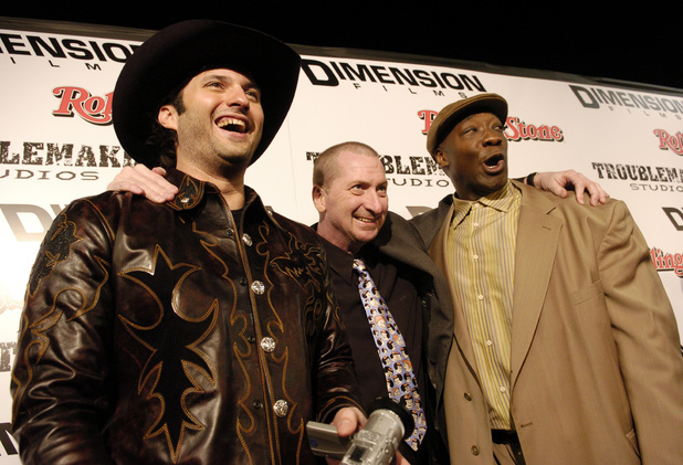 Michael Clarke Duncan with Robert Rodriguez and Frank Miller at the Sin City premiere, 2005.