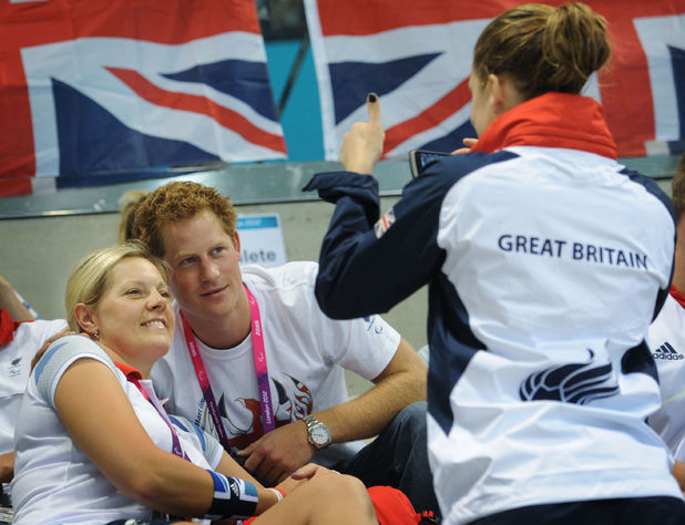Prince Harry, Paralympics, Team GB swimmers