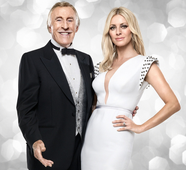 Bruce Forsyth and Tess Daly.