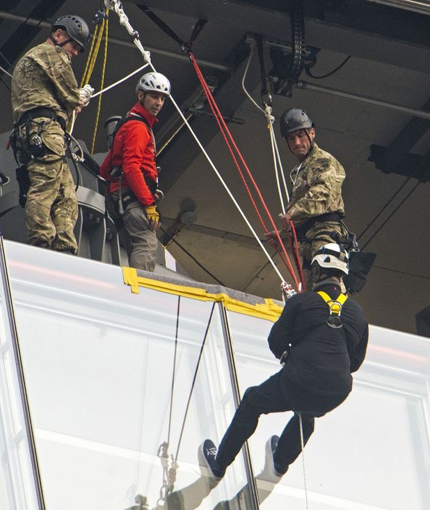 Prince Andrew abseils down the Shard building in aid of the Outward Bound Trust and the Royal Marines Charitable Trust Fund, London, Britan - 03 Sep 2012