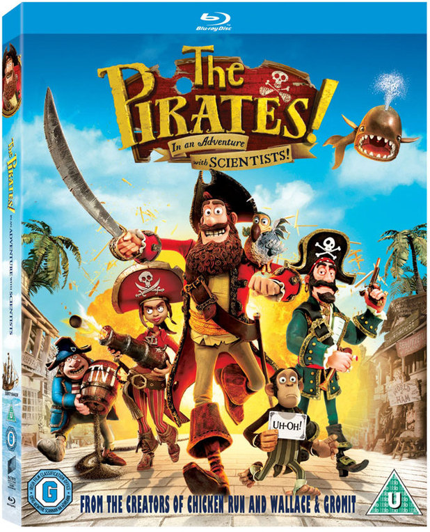 'The Pirates! In An Adventure With Scientists' Blu-ray pack shot