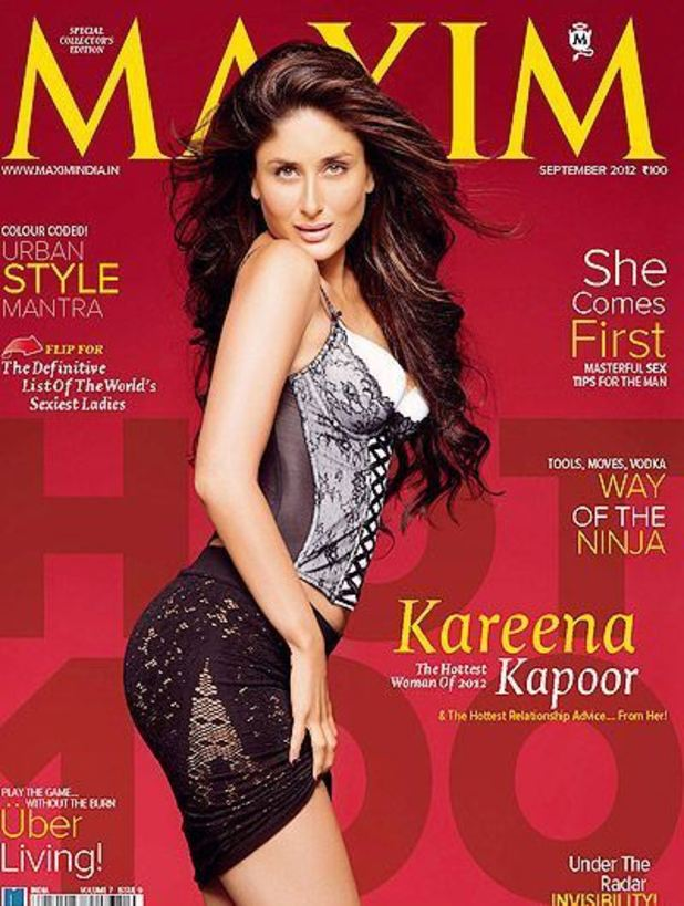 Kareena Kapoor named as world's sexiest woman of 2012 in Maxim India (September 2012)