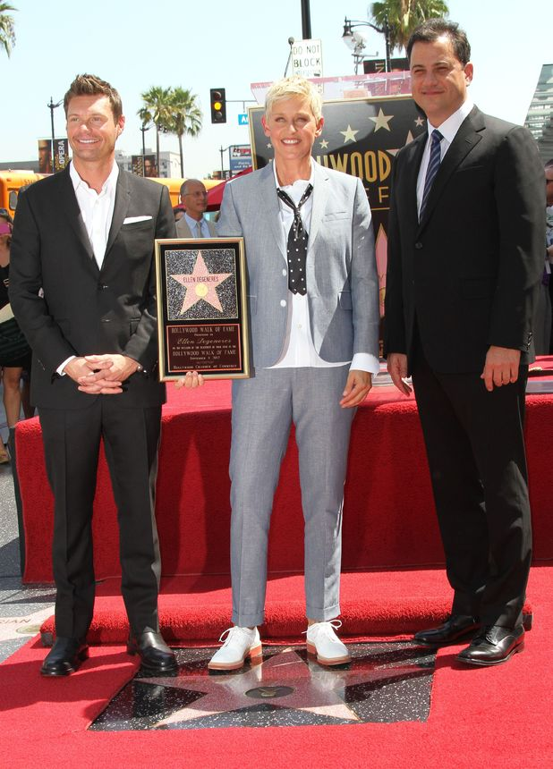 Ryan Seacrest, Ellen DeGeneres, Jimmy Kimmel