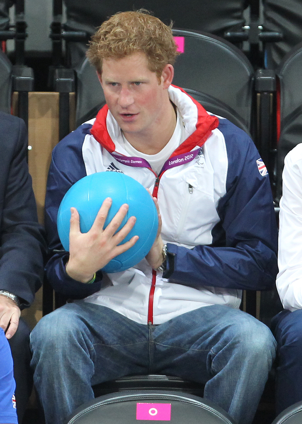 Prince Harry, Goalball, Paralympics 2012