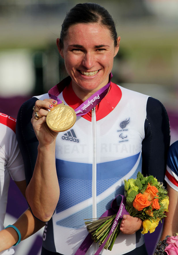 Sarah Storey cycling
