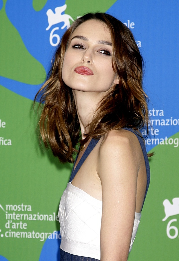 Keira Knightley, at a photocall for the film Atonement at the 64th Venice International Film Festival.