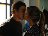 Brax and Natalie kiss.
