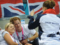 Prince Harry attends the Paralympics after first public appearance last night.